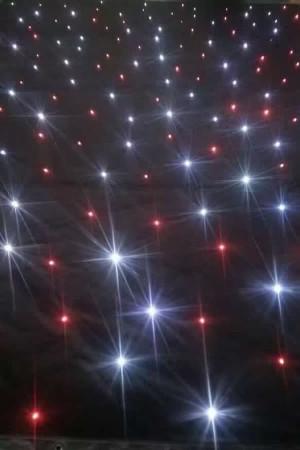 sparkliteled drape,1*2.1M LED Tri Star Curtain,led backdrop