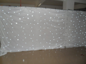 3*8M Wedding backdrop Single Color white LED Star Curtain