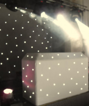 Wedding backdrop Single Color White LED Star Curtain
