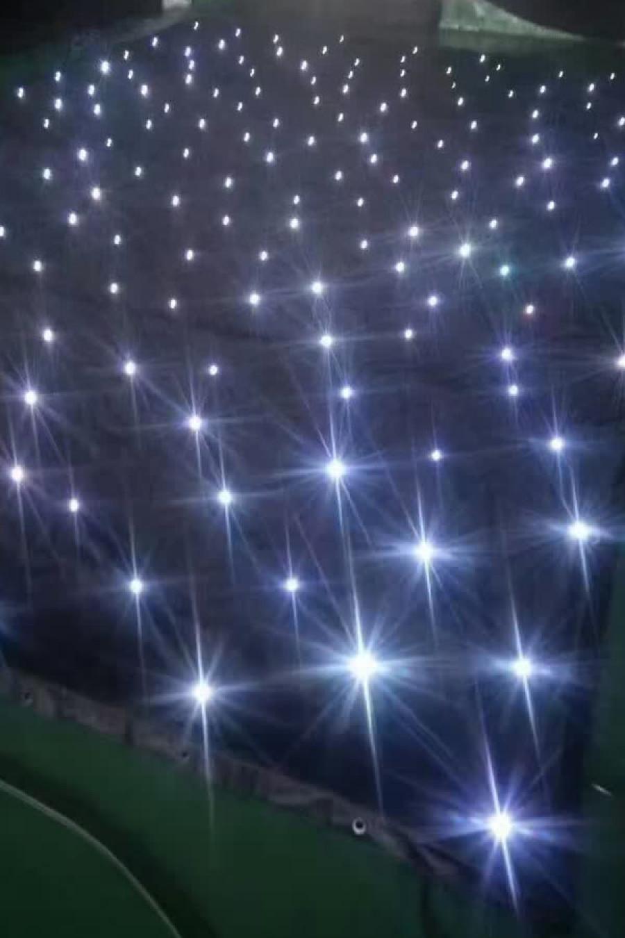 sparkliteled drape,4*6M LED Tri Star Curtain
