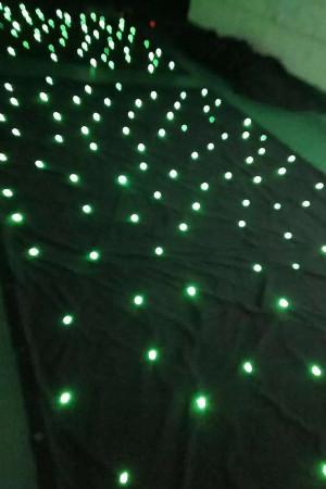 sparkliteled drape,2*4M LED Tri Star Curtain,led backdrop