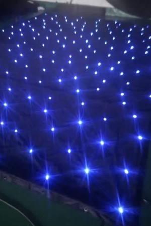 sparkliteled drape,3*4M LED Tri Star Curtain, led backdrop