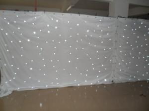 3*8M Wedding backdrop Single Color white LED Star Curtain
