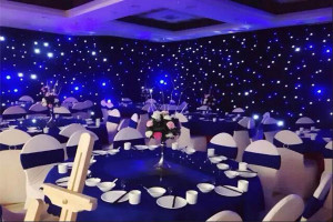 6*4M Mixing Color BW LED Star Curtain