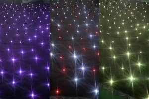 sparkliteled drape,4*6M LED Tri Star Curtain