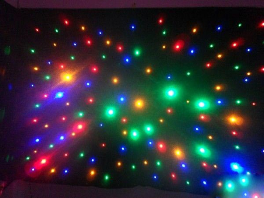 Mixing Color RGBY LED Star Curtain