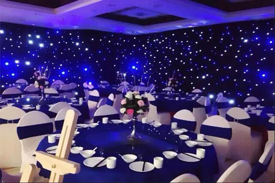 BW STARCLOTH,LED twinkling drape,LED star backdrop