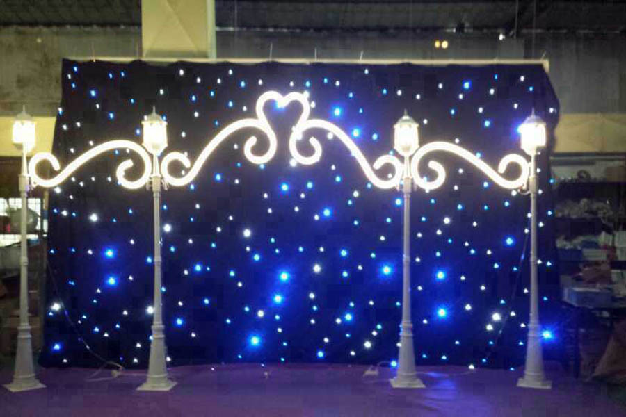 2 3m Mixing Color Bw Led Star Curtain Motion D