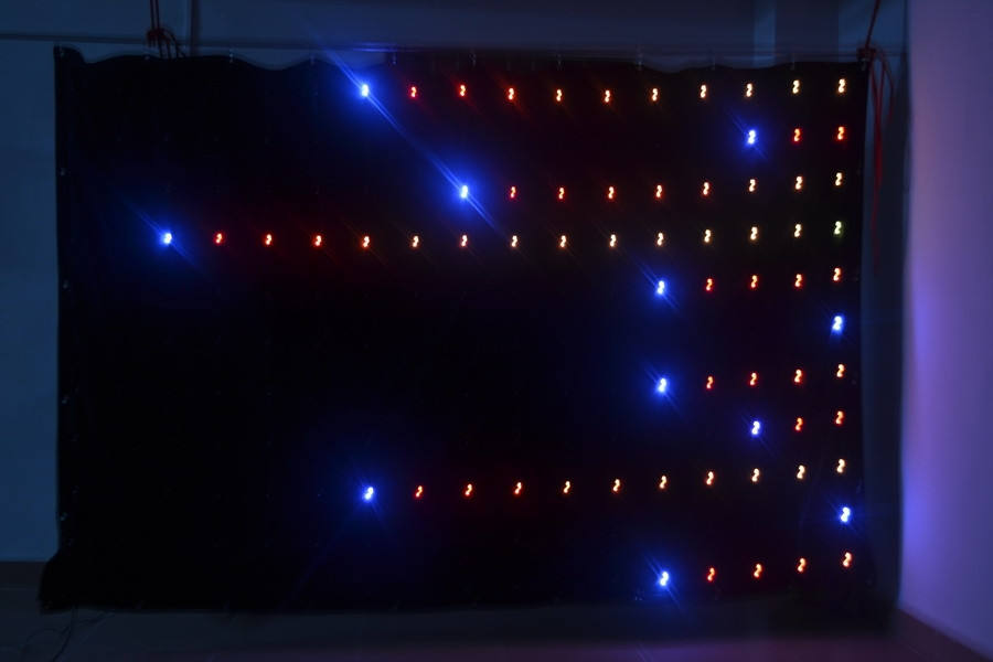 motion drape LED