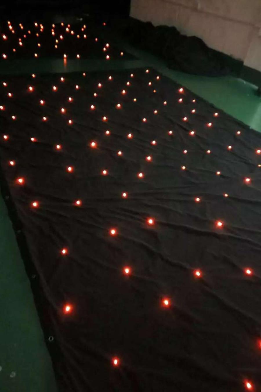 2*3M LED Tri Star Curtain,sparkliteled drape