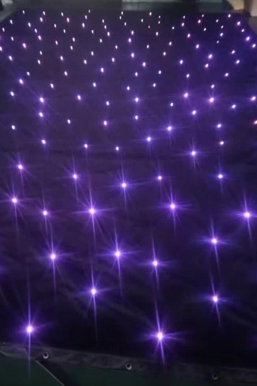 3*10M LED Tri Star Curtain,sparkliteled drape