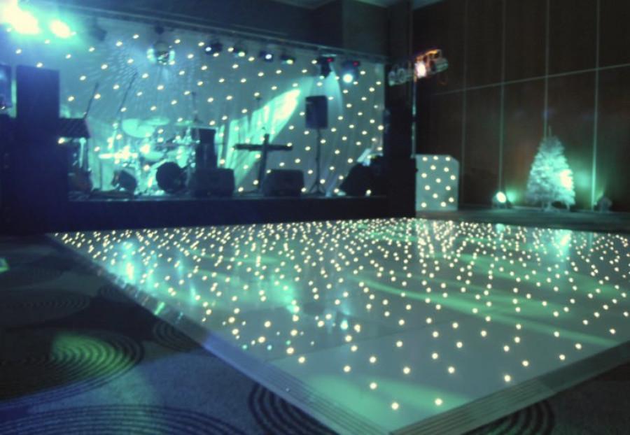 Wedding backdrop Single Color White LED Star Curtain